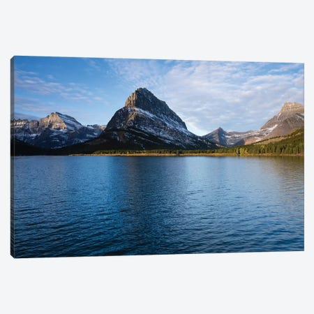 Lake With Mountain Range In The Background, Glacier National Park, Montana, USA Canvas Print #PIM14715} by Panoramic Images Canvas Art