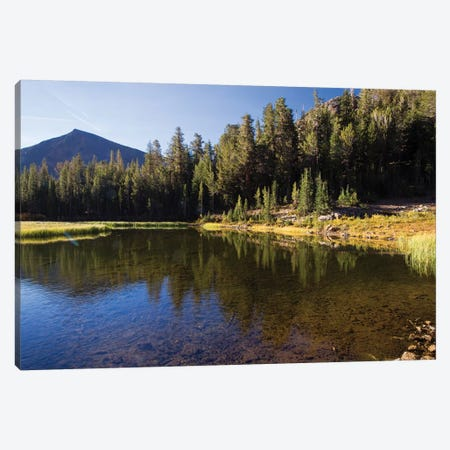Lake With Mountain Range In The Background, Virginia Lakes, Bishop Creek Canyon, California, USA Canvas Print #PIM14717} by Panoramic Images Canvas Art