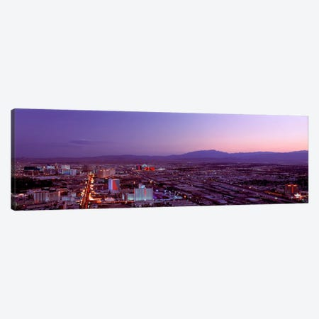 USANevada, Las Vegas, sunset Canvas Print #PIM1471} by Panoramic Images Canvas Art