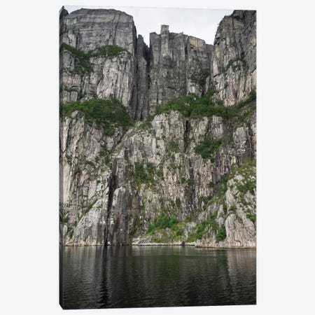 Low Angle View Of Cliff, Preikestolen, Hogsfjord, Forsand, Norway Canvas Print #PIM14726} by Panoramic Images Art Print