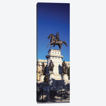Low Angle View Of Equestrian Statue, Richmond, Virginia, USA Canvas Print #PIM14727} by Panoramic Images Canvas Art Print