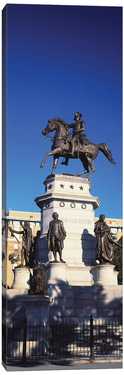 Low Angle View Of Equestrian Statue, Richmond, Virginia, USA Canvas Art Print