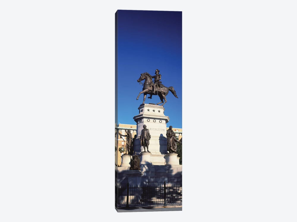 Low Angle View Of Equestrian Statue, Richmond, Virginia, USA 1-piece Canvas Art
