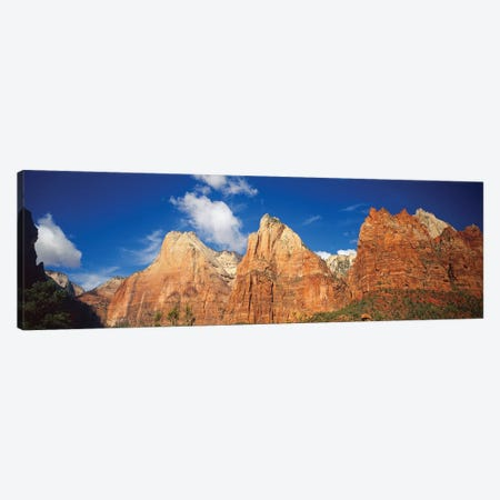 Low Angle View Of Mountains, Zion National Park, Utah, USA Canvas Print #PIM14729} by Panoramic Images Canvas Art