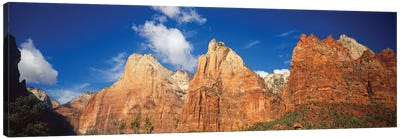 Low Angle View Of Mountains, Zion National Park, Utah, USA Canvas Art Print