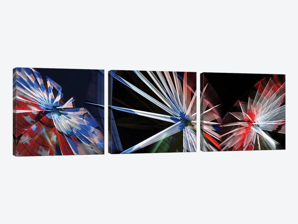 Low Angle View Of Wheels by Panoramic Images 3-piece Canvas Print