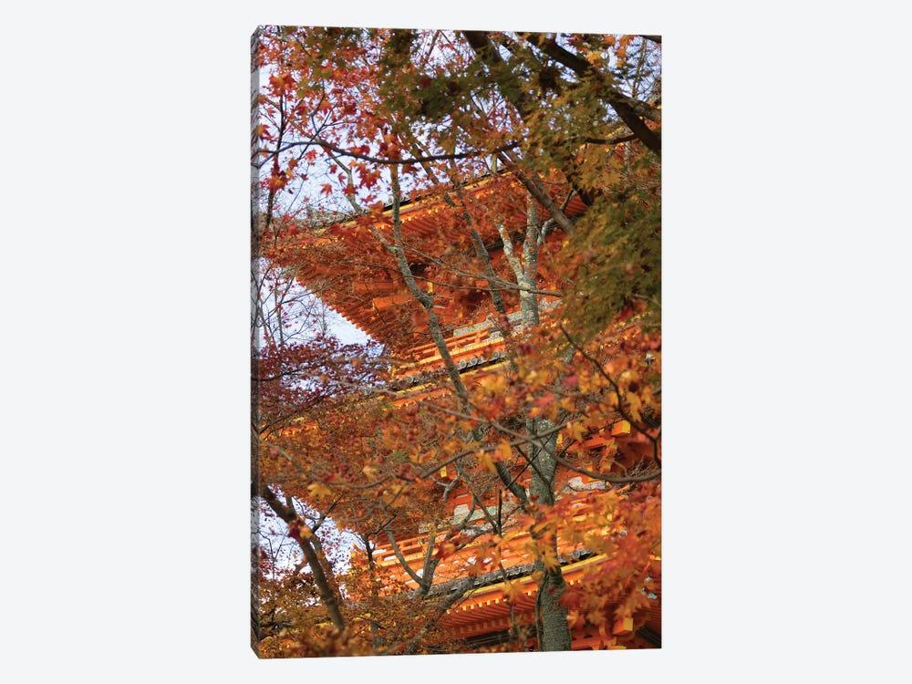 Main Pagoda At Kiyomizu-Dera Temple Seen Through Fall Foliage, Kyoti Prefecture, Japan by Panoramic Images 1-piece Canvas Art Print