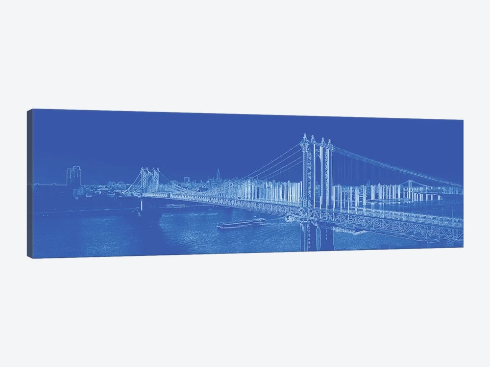 Manhattan Bridge Over The East River, NYC, USA 1-piece Canvas Art