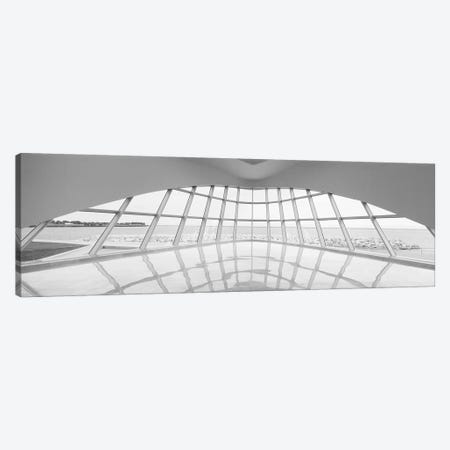 Milwaukee Art Museum, Milwaukee, Wisconsin, USA (Black And White) Canvas Print #PIM14746} by Panoramic Images Canvas Art Print