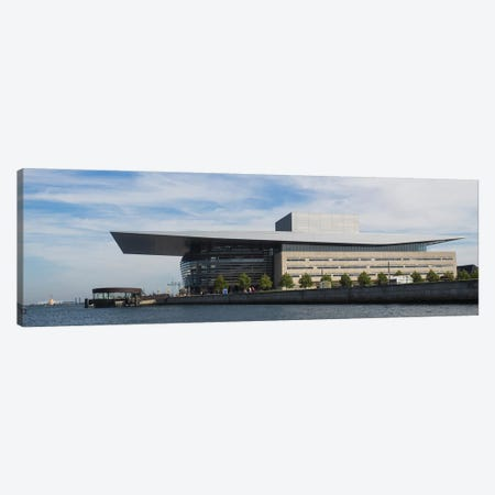 Modern Building At The Waterfront, Copenhagen Opera House, Holmen, Copenhagen, Denmark Canvas Print #PIM14747} by Panoramic Images Canvas Art Print