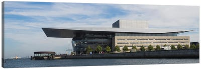 Modern Building At The Waterfront, Copenhagen Opera House, Holmen, Copenhagen, Denmark Canvas Art Print