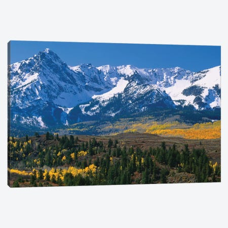 Mountains Covered In Snow, Sneffels Range, Colorado, USA Canvas Print #PIM14751} by Panoramic Images Art Print