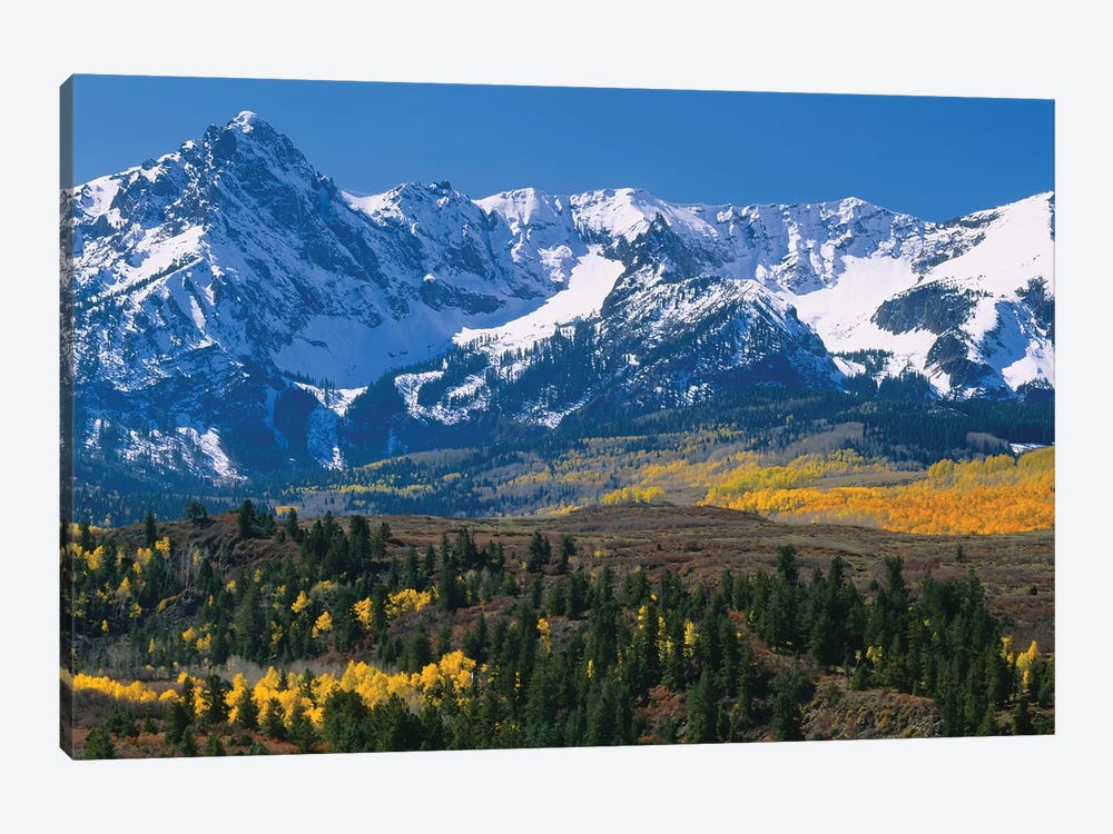 Mountains Covered In Snow, Sneffels Range, Colorado, USA by Panoramic Images 1-piece Canvas Art Print