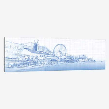 Navy Pier And Skyline At The Waterfront, Chicago, USA Canvas Print #PIM14752} by Panoramic Images Canvas Art Print