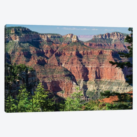 North And South Rims, Grand Canyon National Park, Arizona, USA III 3-Piece Canvas #PIM14755} by Panoramic Images Canvas Artwork