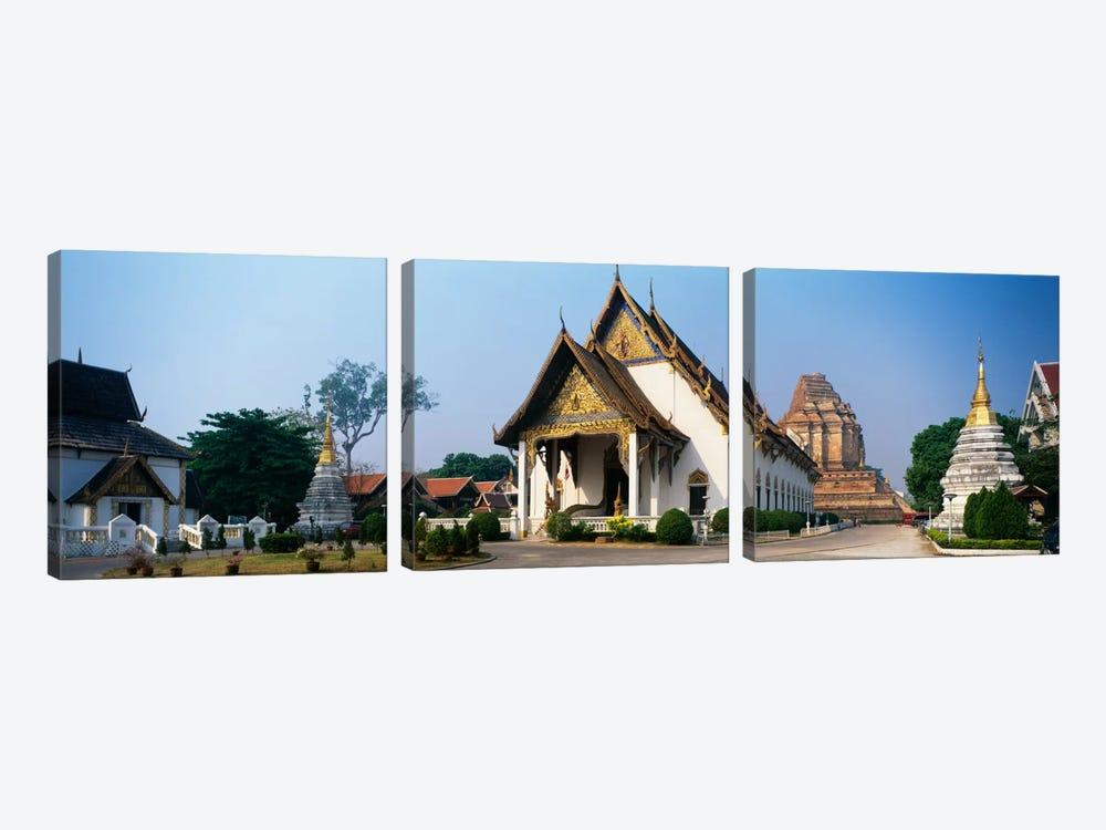 Wat Chedi Luang Chiang Mai Thailand by Panoramic Images 3-piece Canvas Art Print