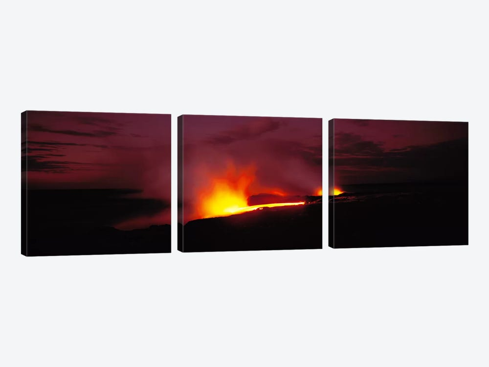 Kilauea Volcanoes National Park Hawaii HI USA by Panoramic Images 3-piece Canvas Artwork