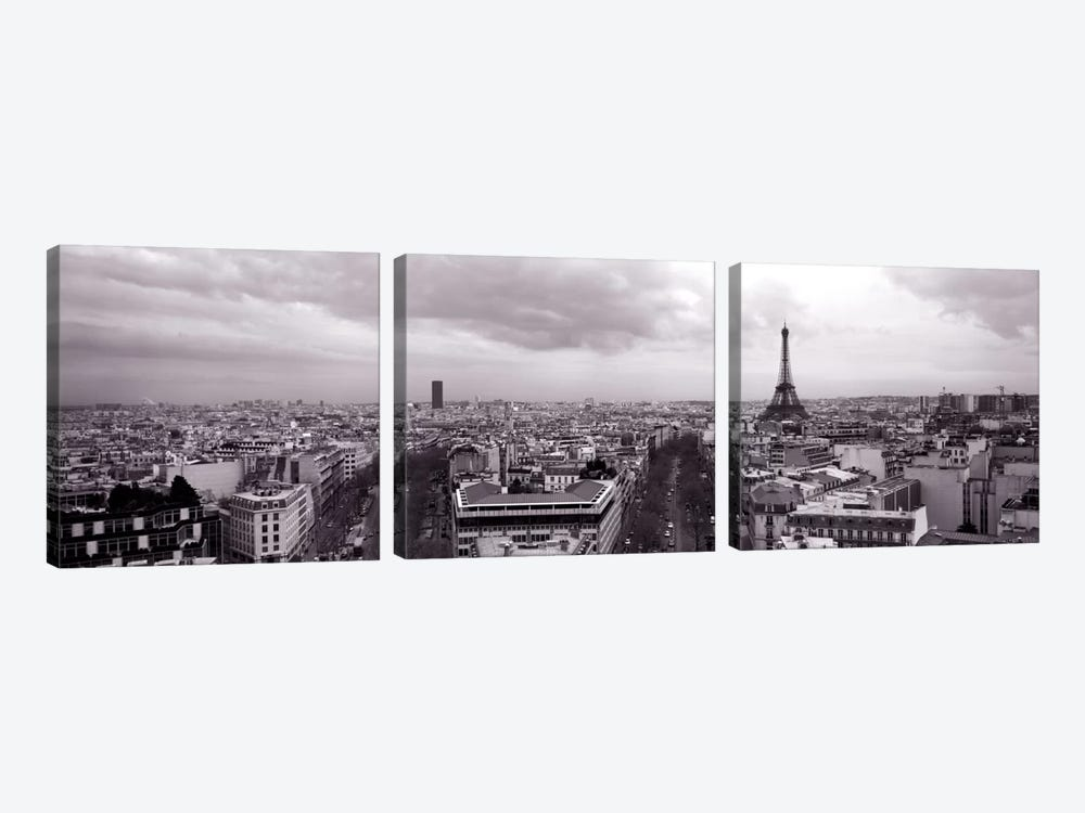 Eiffel Tower, Paris, France  by Panoramic Images 3-piece Canvas Art Print