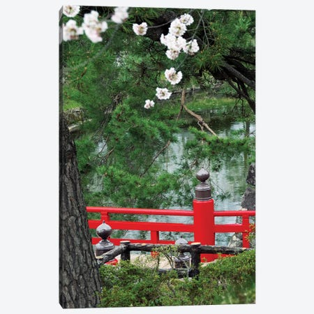 Partial View Of Takaoka-Bashi Bridge In A Park, Hirosaki Park, Hirosaki, Aomori Prefecture, Japan Canvas Print #PIM14785} by Panoramic Images Canvas Print