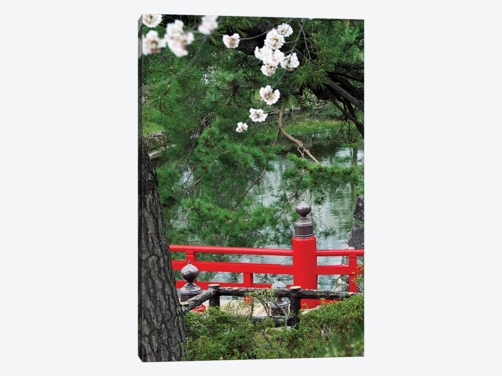 Partial View Of Takaoka-Bashi Bridge In A Park, Hirosaki Park, Hirosaki, Aomori Prefecture, Japan by Panoramic Images 1-piece Canvas Wall Art