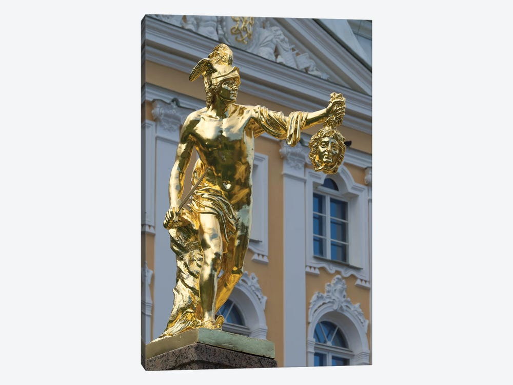 Perseus Statue At Grand Cascade In Peterhof Grand Palace, Petergof, St. Petersburg, Russia by Panoramic Images 1-piece Canvas Art Print