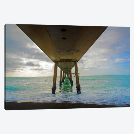 Pier In The Pacific Ocean, Pacifica, San Mateo County, California, USA Canvas Print #PIM14792} by Panoramic Images Canvas Print