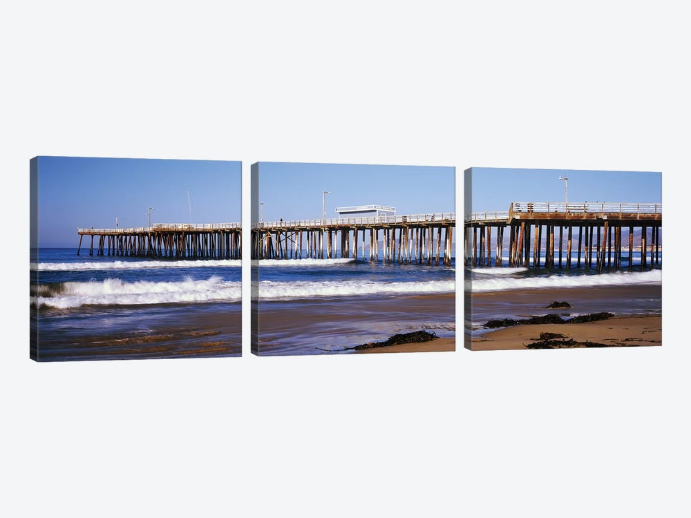 Pismo Pier, Pismo Beach, San Luis Obispo County, California, USA by Panoramic Images 3-piece Art Print