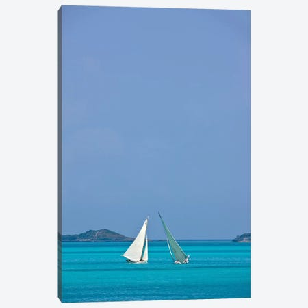 Racing Sloop At The Annual National Family Island Regatta, Georgetown, Great Exuma Island, Bahamas I Canvas Print #PIM14799} by Panoramic Images Canvas Print