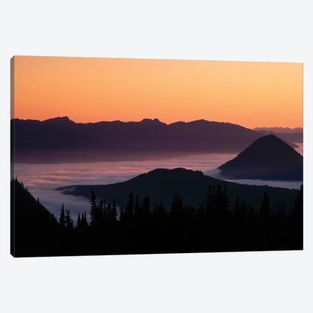 Foggy Mountainscape, Mount Rainier National Park, Washington, USA Canvas Print #PIM147} by Panoramic Images Canvas Wall Art