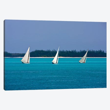 Racing Sloop At The Annual National Family Island Regatta, Georgetown, Great Exuma Island, Bahamas II Canvas Print #PIM14800} by Panoramic Images Art Print