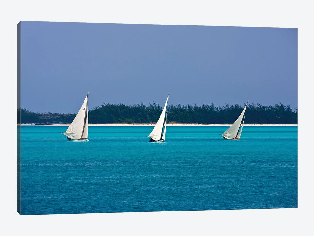Racing Sloop At The Annual National Family Island Regatta, Georgetown, Great Exuma Island, Bahamas II by Panoramic Images 1-piece Canvas Art Print