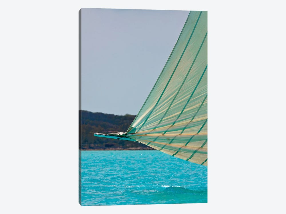 Racing Sloop At The Annual National Family Island Regatta, Georgetown, Great Exuma Island, Bahamas III 1-piece Canvas Wall Art