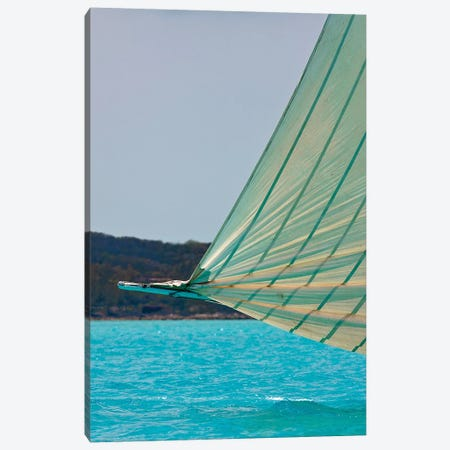 Racing Sloop At The Annual National Family Island Regatta, Georgetown, Great Exuma Island, Bahamas III Canvas Print #PIM14801} by Panoramic Images Canvas Print