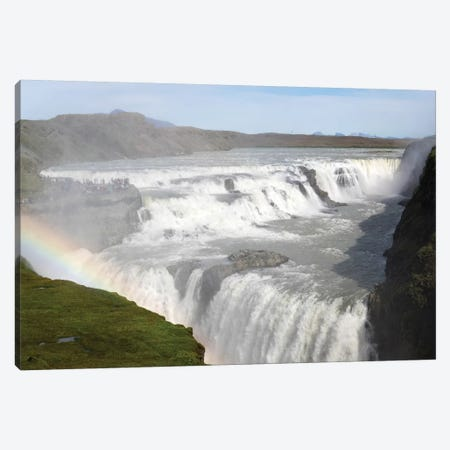 Rainbow Over Gullfoss Falls On The Hvita River, Iceland Canvas Print #PIM14803} by Panoramic Images Canvas Art Print