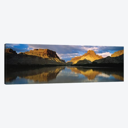 Reflection Of Cliffs In River, Canyonlands National Park, Colorado River, Utah, USA Canvas Print #PIM14812} by Panoramic Images Canvas Artwork