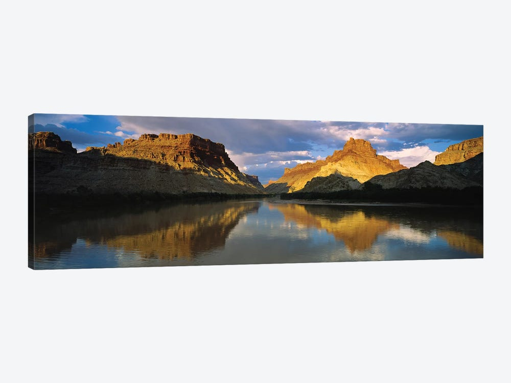 Reflection Of Cliffs In River, Canyonlands National Park, Colorado River, Utah, USA by Panoramic Images 1-piece Canvas Wall Art