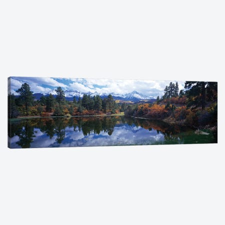 Reflection Of Clouds In Water, San Juan Mountains, Colorado, USA Canvas Print #PIM14813} by Panoramic Images Canvas Wall Art