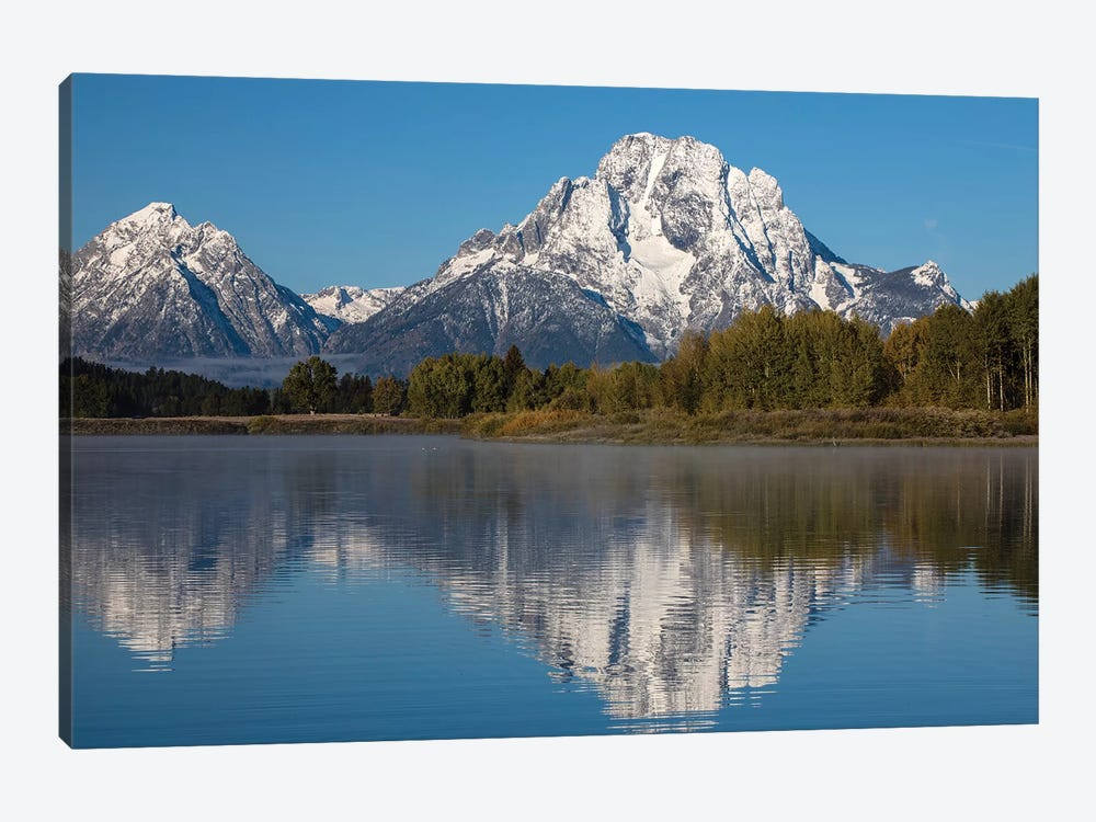 Reflection Of Mountain And Trees On Water, Teton Range, Grand Teton National Park, Wyoming, USA I by Panoramic Images 1-piece Canvas Art
