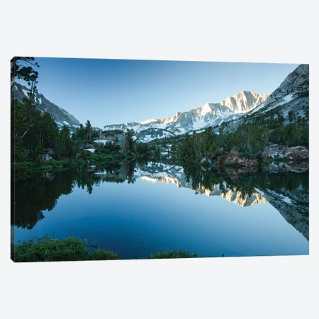 Reflection Of Mountain In A River, Eastern Sierra, Sierra Nevada, California, USA I Canvas Print #PIM14819} by Panoramic Images Canvas Artwork