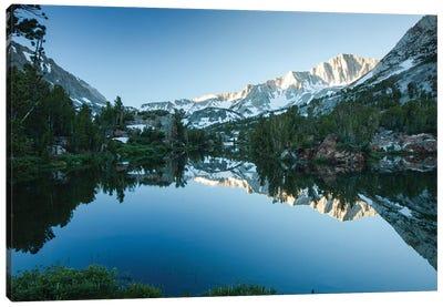Reflection Of Mountain In A River, Eastern Sierra, Sierra Nevada, California, USA I Canvas Art Print