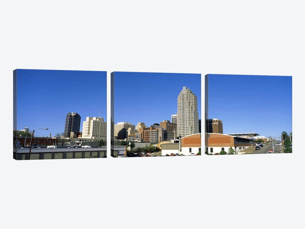Dowtown Skyline, Raleigh, Wake County, North Carolina, USA by Panoramic Images 3-piece Canvas Wall Art