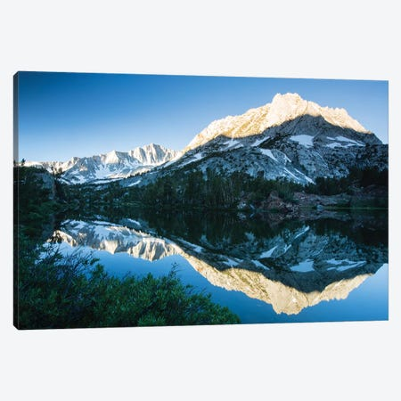 Reflection Of Mountain In A River, Eastern Sierra, Sierra Nevada, California, USA II Canvas Print #PIM14820} by Panoramic Images Canvas Art Print