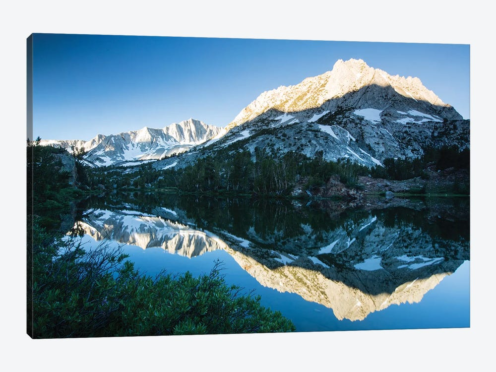 Reflection Of Mountain In A River, Eastern Sierra, Sierra Nevada, California, USA II by Panoramic Images 1-piece Art Print