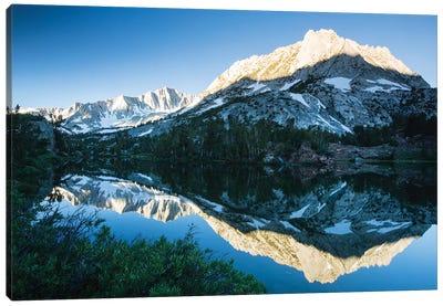 Reflection Of Mountain In A River, Eastern Sierra, Sierra Nevada, California, USA II Canvas Art Print
