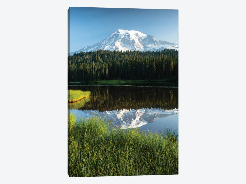 Reflection Of Mountain In Lake, Mount Rainier National Park, Washington State, USA II by Panoramic Images 1-piece Art Print