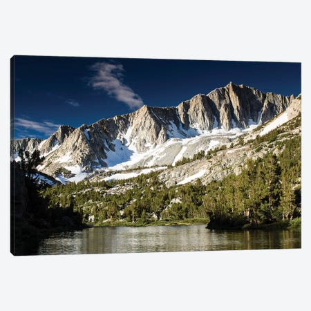 River With Mountain Range In The Background, Eastern Sierra, Sierra Nevada, California, USA I Canvas Print #PIM14832} by Panoramic Images Canvas Art