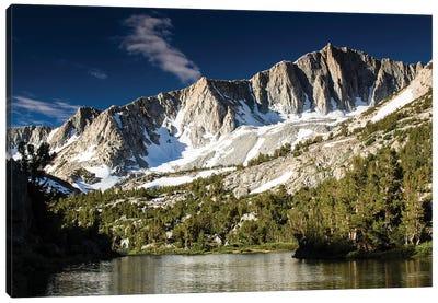 River With Mountain Range In The Background, Eastern Sierra, Sierra Nevada, California, USA I Canvas Art Print
