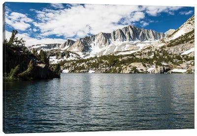 River With Mountain Range In The Background, Eastern Sierra, Sierra Nevada, California, USA III Canvas Art Print