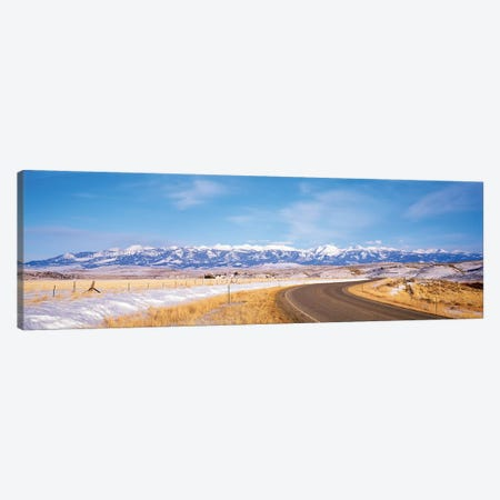 Road Passing Through A Landscape, Crazy Mountains, Montana, USA Canvas Print #PIM14842} by Panoramic Images Canvas Print