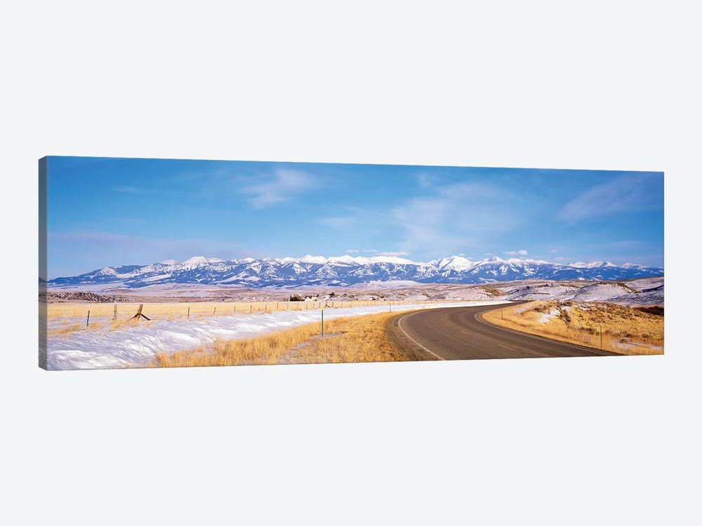 Road Passing Through A Landscape, Crazy Mountains, Montana, USA by Panoramic Images 1-piece Canvas Art Print